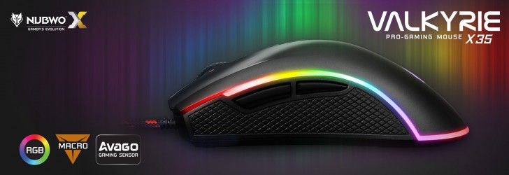 NUBWO VALKYRIE X35 Pro-Gaming Mouse