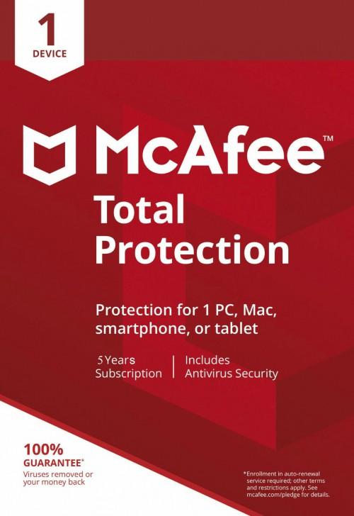 โปรแกรมแอนตี้ไวรัส McAfee Total Protection