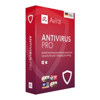 Avira Antivirus Pro ขายแอนตี้ไวรัส Avira โปรแกรมแอนตี้ไวรัสร่มแดง อันดับ 1 ของเยอรมัน ในเวอร์ชันนี้ได้ถูกพัฒนาใหม่ เพิ่มประสิทธิภาพในการป้องกันมากขึ้น