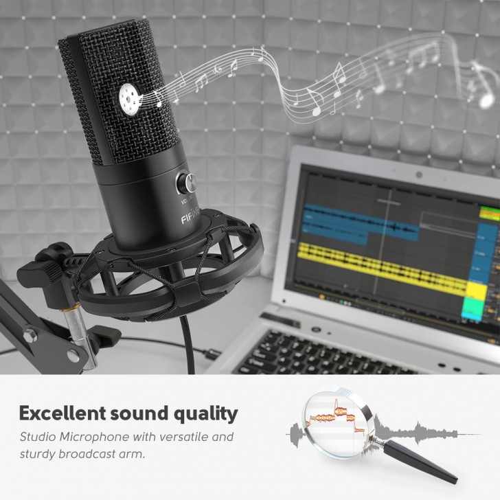 FIFINE T669 USB MICROPHONE WITH HOME STUDIO BUNDLE