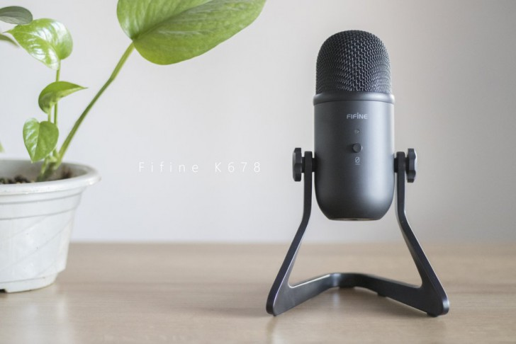 FIFINE K678 USB Microphone with Low-latency for Gaming, Streaming, Recording