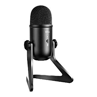 FIFINE K678 ไมโครโฟน USB พร้อมขาตั้งโต๊ะ คุณภาพเสียงเยี่ยม สำหรับ Podcaster เกมเมอร์ และงานบันทึกเสียง และยังมีอะแดปเตอร์สำหรับเปลี่ยนไปใช้ขาตั้งไมค์แบบอื่นได้