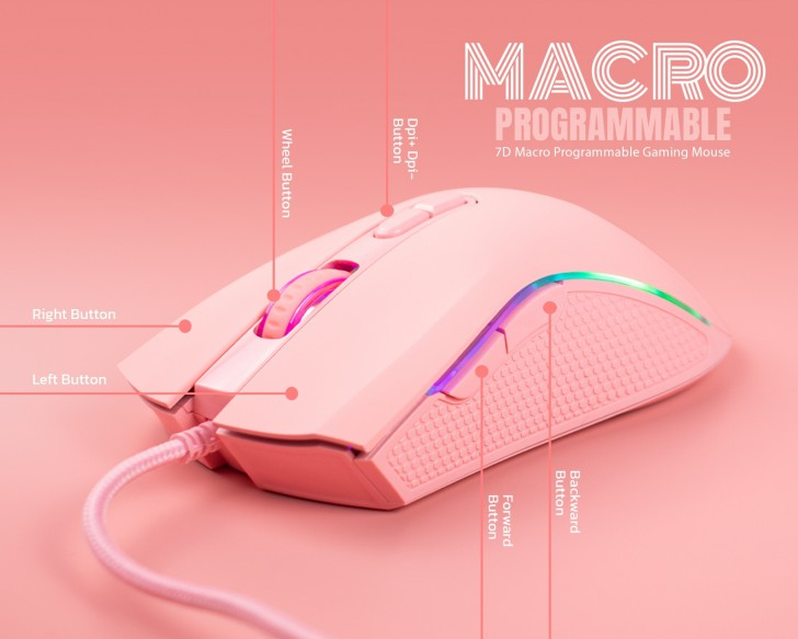 NUBWO Plesios NM-89M PINK EDITION - Gaming Mouse