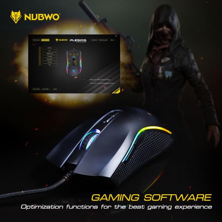 NUBWO Plesios NM-89M Black - Gaming Mouse