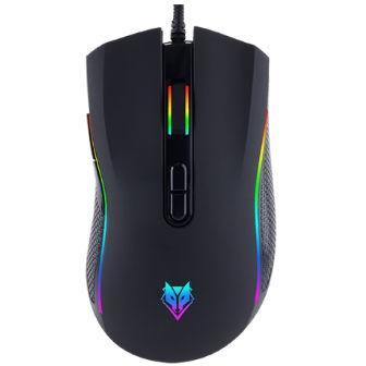 เมาส์เกมมิ่ง เมาส์เล่นเกมมาโคร NUBWO Plesios NM-89M Black - Gaming Mouse สำหรับเกมเมอร์ สีดำ ดีไซน์สวย เคลื่อนไหวรวดเร็ว แม่นยำ มีไฟ LED ใช้สายถัก ทนทาน