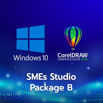 SMEs Studio Package B ชุดโปรแกรมออกแบบ และ ระบบปฏิบัติการ Windows 10 สำหรับนักออกแบบมืออาชีพ ภายในชุดมี Windows 10 และ ชุดโปรแกรม CorelDRAW Graphics Suite