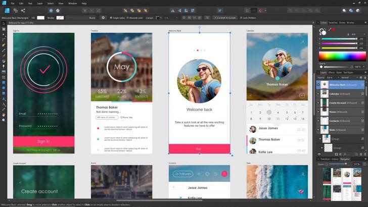 โปรแกรมวาดรูปเวกเตอร์Affinity Designerfor Mac