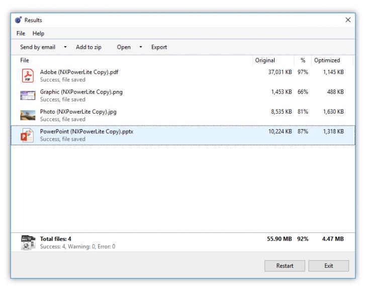 NXPowerLite Desktop for Windows