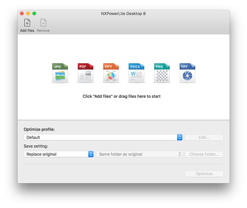 NXPowerLite Desktop for Mac
