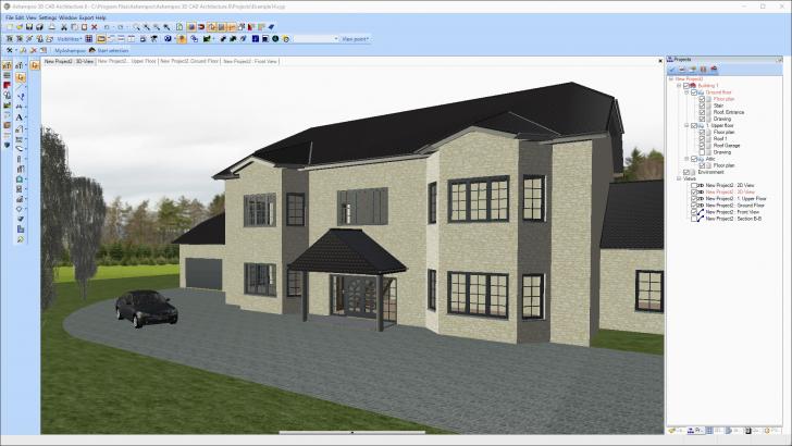 โปรแกรมออกแบบ 2 มิติ และ 3 มิติ Ashampoo 3D CAD Architecture