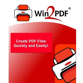 Win2PDF โปรแกรมสร้างไฟล์ PDF รุ่นเริ่มต้น รองรับไฟล์เอกสาร ไฟล์รูปภาพ บันทึกเป็นไฟล์ที่ค้นหาข้อความได้ (Text-Searchable PDF Files) ส่งต่อทางอีเมลได้สะดวก