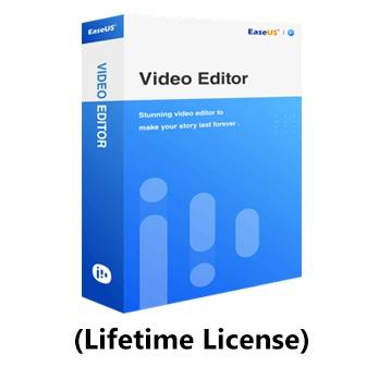 EaseUS Video Editor - Lifetime License โปรแกรมตัดต่อวิดีโอ แปลงไฟล์วิดีโอ มี Effect และ Transition กว่า 50 แบบ ลิขสิทธิ์แบบจ่ายครั้งเดียว อัปเดตฟรีตลอดชีพ