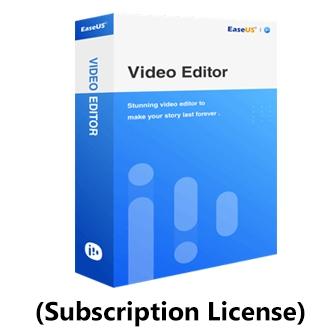 EaseUS Video Editor - Subscription License โปรแกรมตัดต่อวิดีโอ แปลงไฟล์วิดีโอ มี Effect และ Transition กว่า 50 แบบ ใช้งานง่าย แบบ Drag & Drop ลิขสิทธิ์แบบรายปี
