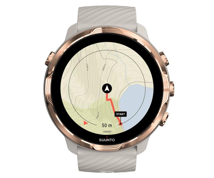 นาฬิกาอัจฉริยะมี GPS หน้าจอสัมผัสมัลติสปอร์ต SUUNTO 7