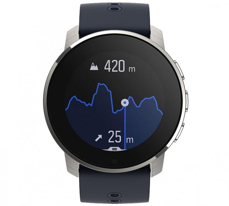 นาฬิกาอัจฉริยะ มี GPS มัลติสปอร์ต ตัวเรือนไทเทเนียม SUUNTO 9 PEAK