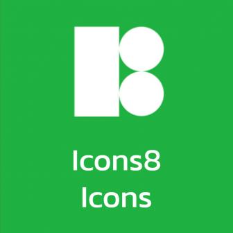 Icons8 Icons สต๊อกภาพไอคอนความละเอียดสูง สำหรับงานกราฟิก หรือประกอบคลิปวิดีโอ มีปลั๊กอินให้เรียกใช้ไอคอน จากโปรแกรมด้านกราฟิก โปรแกรมด้านงานออกแบบ UI ได้โดยตรง