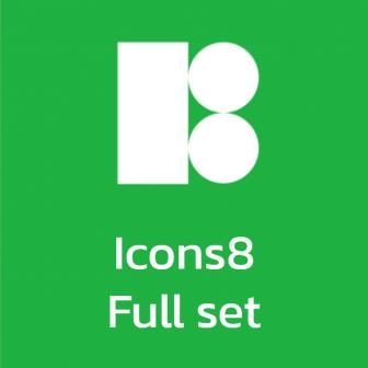 Icons8 Full Set รวมชุดสต๊อกภาพ ไอคอน ภาพวาด ดนตรีประกอบคุณภาพสูง สำหรับงานกราฟิก ออกแบบ UI หรืองานตัดต่อวิดีโอ มีปลั๊กอิน มีโปรแกรมเสริมสำหรับงานออกแบบ