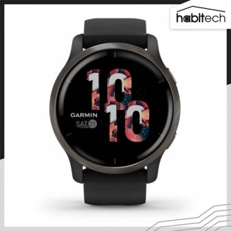 Garmin Venu 2 นาฬิกาอัจฉริยะ ระบบ GPS หน้าจอ 45 มม. ติดตามสุขภาพใกล้ชิด มีโหมดกีฬากว่า 25 โหมด แตะจ่ายเงินสะดวกด้วย Rabbit Card ฟังเพลงได้ ดีไซน์เรียบหรู