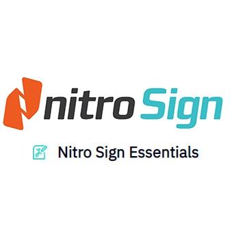 Nitro Sign Essentials โซลูชันลายเซ็นอิเล็กทรอนิกส์ (eSignature) รุ่นเริ่มต้น ใช้สร้าง ส่งเอกสารออกไปเพื่อขอลายเซ็นได้รวดเร็ว ปลอดภัย ลดการใช้กระดาษ