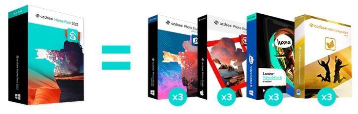 ชุดโปรแกรมจัดการ ตกแต่งรูปภาพ ตัดต่อ แปลงไฟล์วิดีโอ ACDSee Home Pack 2022