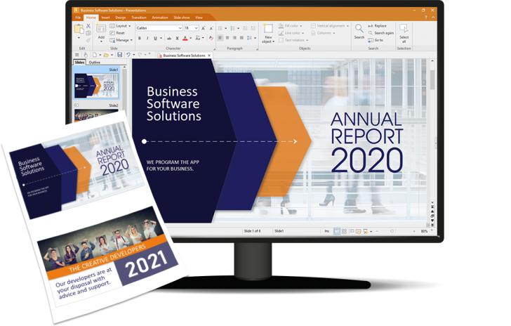 ชุดโปรแกรมจัดการสํานักงาน รุ่นมาตรฐาน SoftMaker Office Standard