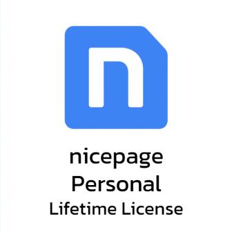 Nicepage Personal - Lifetime License โปรแกรมทำเว็บ รุ่นผู้ใช้งานทั่วไป ลิขสิทธิ์ซื้อขาด ออกแบบได้ 5 เว็บไซต์ รองรับ WordPress ออกแบบง่าย สไตล์ลากและวาง